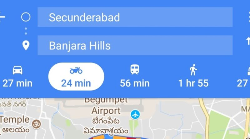 Google Maps - Two-wheeler mode