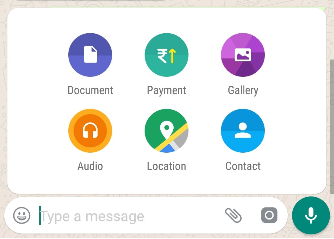 Payment Icon in WhatsApp