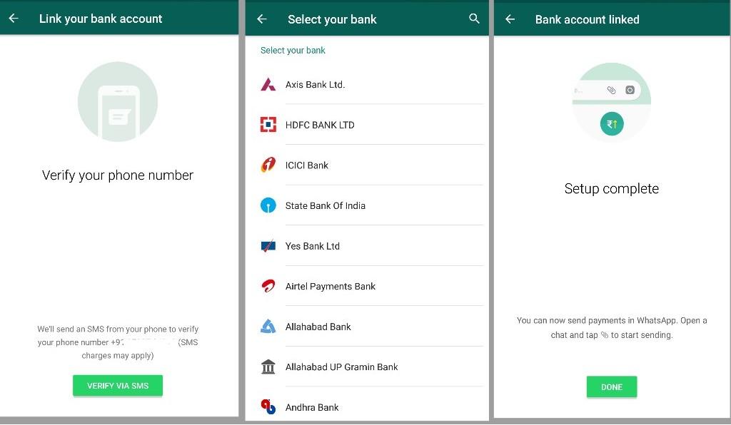 WhatsApp Payment setup